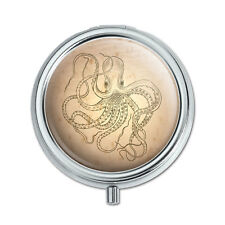 Vintage Ink Drawn Octopus Pill Case Trinket Gift Box
