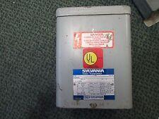 Sylvania Buck Boost Transformer 756-1B0 Pri 120/240V Sec 16/32V .750KVA 1Ph Used
