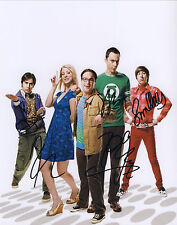 Big Bang Theory Hand Signed By Cast Of All 5 TV Series 10x8