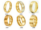 18k Gold Plated Tungsten Carbide Men Women Engagement Ring Wedding Band Jewelry
