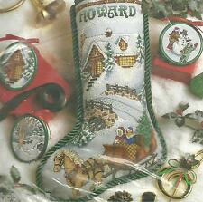 TO GRANDMOTHER'S HOUSE WE GO,CHRISTMAS STOCKING Kit COUNTED XStitch #10091