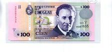 URUGUAY 2011 $100 PESOS URUGUAYOS NOTE CU 9056A