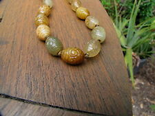 antique jade carved beads antique asian jewelry