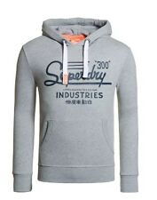 New Men's Superdry Industries Hoodie Grey Marl 2XL Extra Extra Large RRP £50