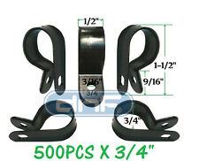 """500 PACK 3/4"""" BLACK NYLON CABLE CLAMP UV WEATHER RESISTANT - SHIPS FREE TODAY!"""