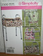Walker Handicap Bags Accessories Organizers Sewing Pattern/Simplicity 2300/UCN