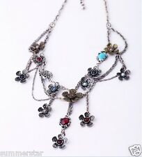 Miti-Layer Flowers Vintage Chan Necklace