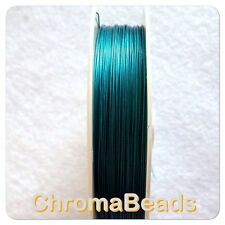 50m roll Tiger Tail - Ocean Blue - 0.38mm, beading wire