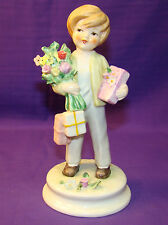 "1970 GOEBEL BLUMENKINDER LORE HUMMEL ""BIRTHDAY BOY"" FIGURINE #244 TMK 4 GERMANY"