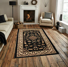 "Classic Traditional High Quality Black Rug 160 x 230 cm (5'3"" x 7'7) Carpet"