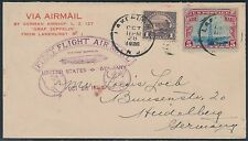 1928 1ST FLIGHT COVER LZ127 ZEPPELIN LAKEHURST TO HEIDELBERG SIEGER 22A BS2974