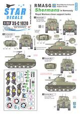 Star Decals 1/35 ROYAL MARINES ARMOURED SUPPORT GROUP SHERMAN TANKS IN NORMANDY