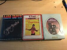 Lot Of 3 NEW 8 Track Tapes.  Lloyd Price, Guy Lombardo, Captain & Tennille's