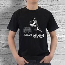 New Ronnie Van Zant Lynyrd Skynyrd Men's Black #1 T-Shirt Size S-2XL