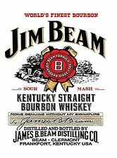 JIM Beam LARGE METAL SIGN 400mm x 300mm (OG)