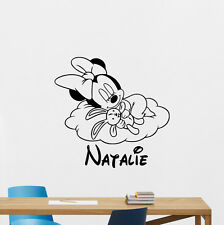 Personalized Minnie Mouse Wall Decal Custom Name Nursery Vinyl Sticker 106hor