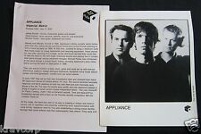 APPLIANCE 'IMPERIAL METRIC' 2001 PRESS KIT--PHOTO