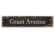 SP0650 GRANT AVENUE Street Sign Home Cafe Store Shop Bar Chic Decor Gift