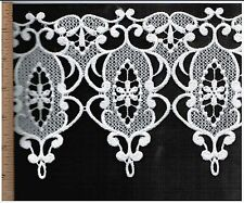 VICTORIAN VENISE LACE TRIM GUIPURE RAYON BRIDAL FASHION JEWELRY CRAFTS  #2461