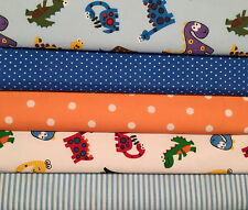 Fat Quarters Bundle Vivero & childfabric Craft Dinosaurio Jurassic Park Azul Cielo