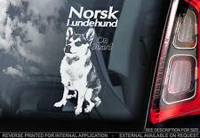 Norsk Lundehund - Car Window Sticker - Dog Sign -V01