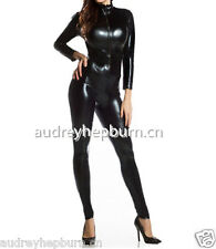 100% Latex Rubber Black Cool Tights Ganzanzug Stylish Bodysuit Suit Size XS-XXL