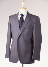 NWT $795 HUGO BOSS RED LABEL Solid Medium Gray Wool Suit 40 S 'Aamon/Hago'