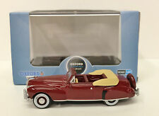 HO Oxford Diecast #41001 Lincoln Continental '41 Convertible -Maroon - NEW