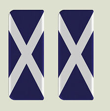 2x Escocia Completo Bandera-Gel semicirculares de matrícula badges/decals 107x42mm