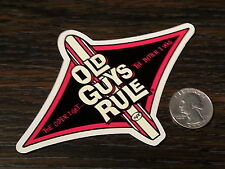 Genuine OLD GUYS RULE Red OLDER I GET Surf Sticker Car Window Vinyl Decal New