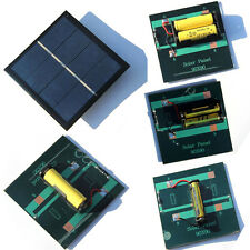 Rechargeable 1W Solar Panel 2AAA Battery Charger Charging Solar Module 4v HQ!
