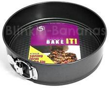 """LARGE ROUND SPRINGFORM 9.5"""" DEEP NON STICK LOOSE BASE BOTTOM CAKE BAKING TIN PAN"""