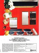 PUBLICITE ADVERTISING 094  1969  NEFF  éléctroménager lave vaisselle à encastrer
