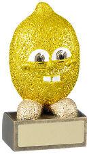 COMICAL LEMON GOLF TROPHY BOOBY PRIZE RUNNER UP AWARD FREE ENGRAVING RM561
