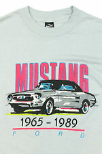 Vtg 1965 - 1989 FORD MUSTANG T Shirt SMALL Neon Colors 50/50 Convertible 80s