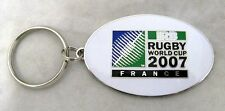 33342 RUGBY WORLD CUP RWC 2007 FRANCE WHITE OVAL KEYRING KEY RING IRB COLLECT