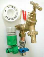 Outside Tap Kit With Permanent Hose Branch And Garden Hose Fittings
