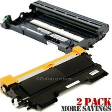 2/PK Toner & Drum Cartridge Compatible for Brother TN-450 & DR-420