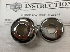 Genuine  HARLEY CHROME REAR WHEEL SPACER KIT 41608-06 FXST SOFTAIL FXSTS