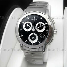 Men's Movado SPORTS LUXURY SL Chronograph Black Dial w/ Date Swiss Watch 0605734
