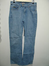 Lee Size 8 (31X31.5) Midrise Boot Cut Jeans Lower On  Waist Distressed 120-7204