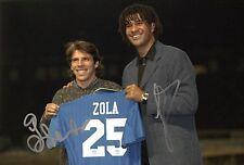 """Firmato """"RUUD GULLIT & GIANFRANCO ZOLA-CHELSEA LEGGENDE"""" 12"""" x 8"""" foto. (COA)"""