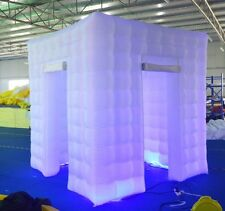 Inflatable Cube Photo Booth with LED Lights, Portable Photobooth Two Door