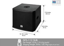 Better Music Builder DFS112 SUB Bass Power Subwoofer 1200 Watts