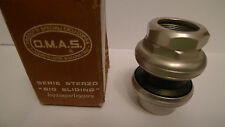 Vintage NOS 80's O.M.A.S/OMAS Big Sliding silver headset boxed mint super rare