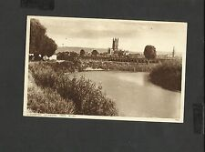 Vintage Sepia Postcard Gloucester Cathedral from the River posted 1942