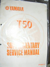 YAMAHA T50 SUPPLEMENTARY SERVICE MANUAL   (1st EDITION MARCH 1987)