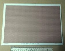 OO/HO gauge (1:76 scale) red roof tile paper - A4 sheet