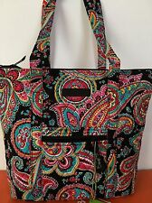 NWT Vera Bradley Villager Tote Bag IN Parisian Paisley Shoulder Handbag