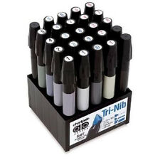 Chartpak Tri-Nibbed Warm/Cool Gray 25 AD Marker Set  Admarker SETE  Alvin E Grey